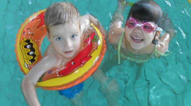 Plavání na hale Slavie